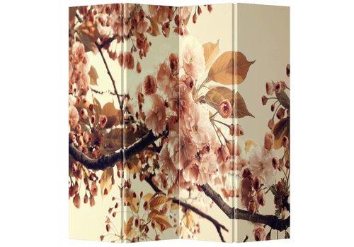 Fine Asianliving Fine Asianliving Kamerscherm Scheidingswand 4 Panelen Sakura Kersenbloesems