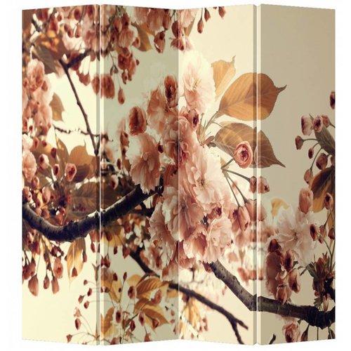 Fine Asianliving Kamerscherm Scheidingswand 4 Panelen Sakura Kersenbloesems