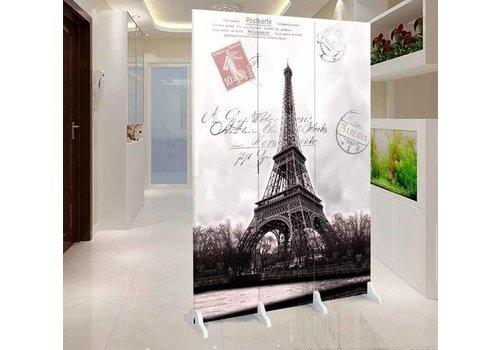Fine Asianliving Kamerscherm 3 Panelen Eiffeltoren