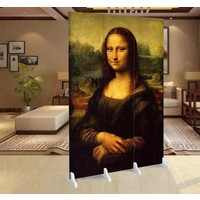 Fine Asianliving Room Divider Privacy Screen 3 Panel Mona Lisa W120xH180cm