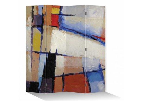 Fine Asianliving Kamerscherm Scheidingswand B160xH180cm 4 Panelen Moderne Kunst