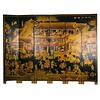 Fine Asianliving Chinees Kamerscherm 6 Panelen Handgeschilderd Dorp B240xH182cm