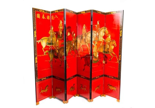 Fine Asianliving Chinese Wooden Room Divider 6 Panel Ba-Da-You