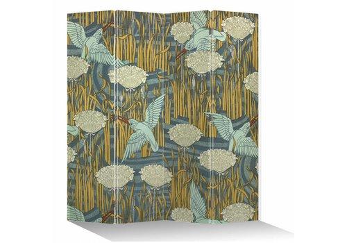 Fine Asianliving Japans Kamerscherm Oosters Scheidingswand B160xH180cm 4 Panelen Vogels