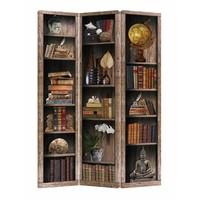 Fine Asianliving Room Divider Privacy Screen 3 Panel Bookshelf 120x180cm