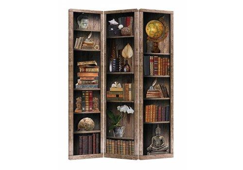 Fine Asianliving Kamerscherm Scheidingswand B120xH180cm 3 Panelen Boekenkast