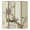 Fine Asianliving Paravent en Toile L160xH180cm 4 Panneaux Fleurs de Cerisier