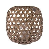 Riverdale Windlicht Bamboe Handgevlochten Bruin 33 cm