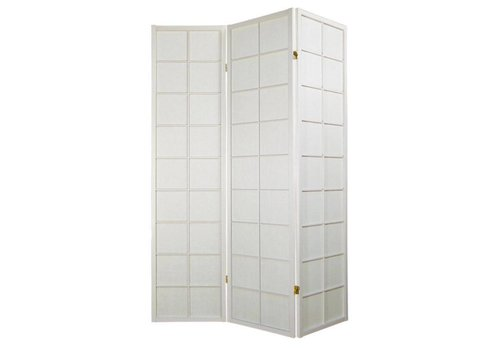 Fine Asianliving Biombo Japonés A135xA180cm 3 Paneles Shoji Papel de Arroz Blanco Separador