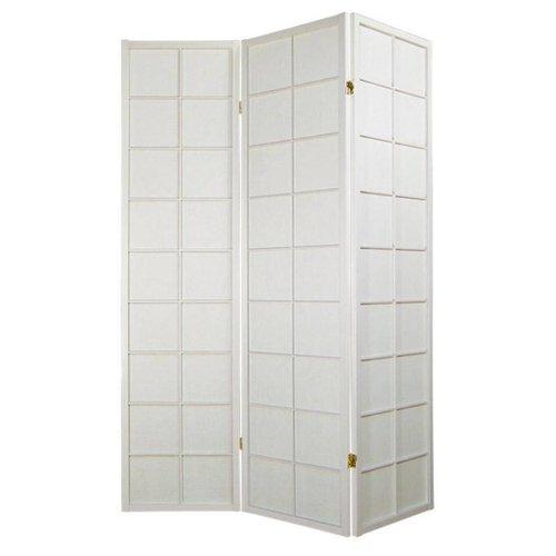 Japanese Room Divider Shoji Traditional Rice-paper 3 Panel - White 180/W3