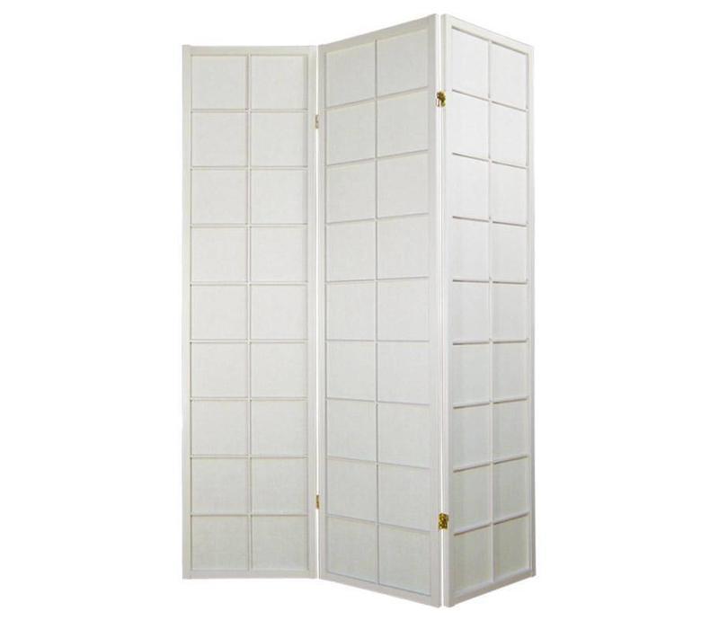 Biombo Separador Japonés Anch.135 x Alt.180 cm Shoji Papel de Arroz 3 Paneles - 180 / Anch.4