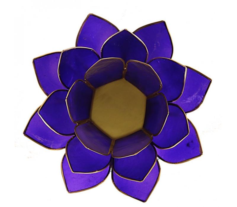 Sfeerlicht open lotusbloem paars