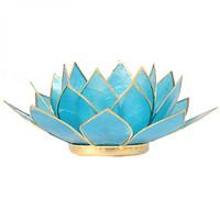 Sfeerlicht open lotusbloem Capiz Schelp Lichtblauw