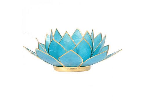 Fine Asianliving Sfeerlicht open lotusbloem Capiz Schelp Lichtblauw