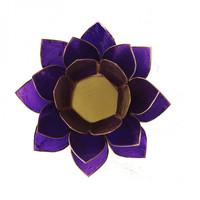 Sfeerlicht open lotusbloem Capiz Schelp violet