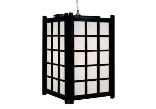 Fine Asianliving Japanse Lamp Shoji Rijstpapier Houten Hanglamp Dofu Zwart