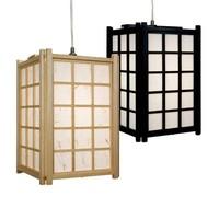 Japanese Lamp Shoji Rice Paper Wood Dofu Black W20.5xD20.5xH31cm
