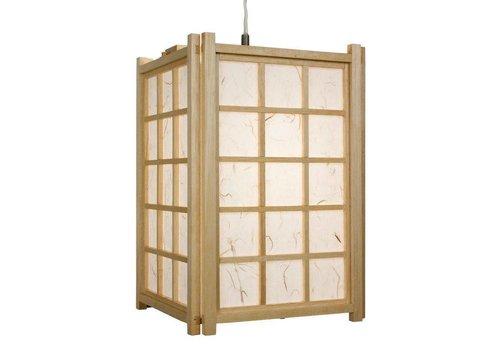 Fine Asianliving Japanese Hanging Lamp Ricepaper Shoji Wood Dofu Natural