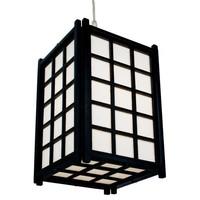 Japanse Lamp Shoji Rijstpapier Houten Hanglamp Dofu Zwart