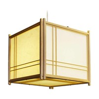 Japanse Hanglamp Rijstpapier Shoji Hout Double Cross Natural