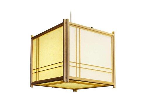Fine Asianliving Japanse Hanglamp Rijstpapier Shoji Hout Double Cross Natural