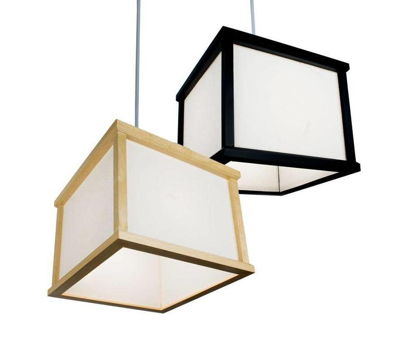 Japanse Hanglamp Rijstpapier Shoji Hout Shizuka Zwart