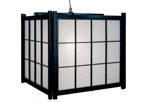 Fine Asianliving Japanse Lamp Shoji Rijstpapier Hanglamp Shiga Zwart