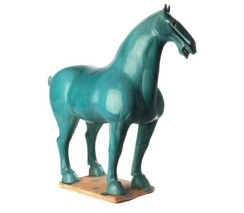 Terracotta Horse Han Chinese Style Turquoise
