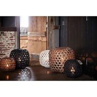 Riverdale Windlicht Bamboe Handgevlochten Bruin 40 cm
