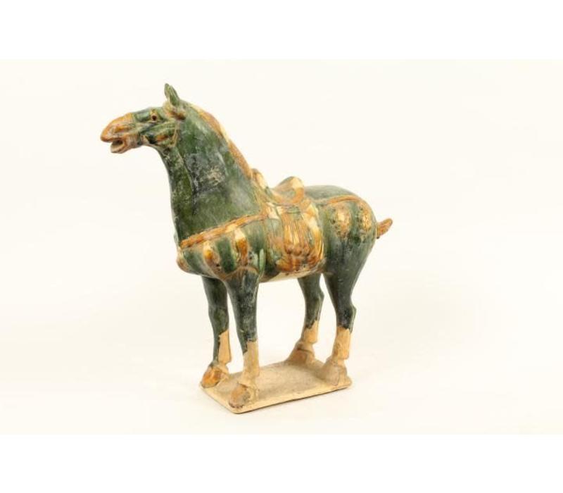 Aardewerk Chinese Paarden Groen Rechts