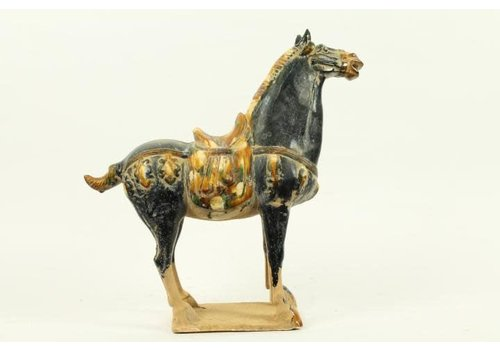 Fine Asianliving Chinese Horse Pottery blue right