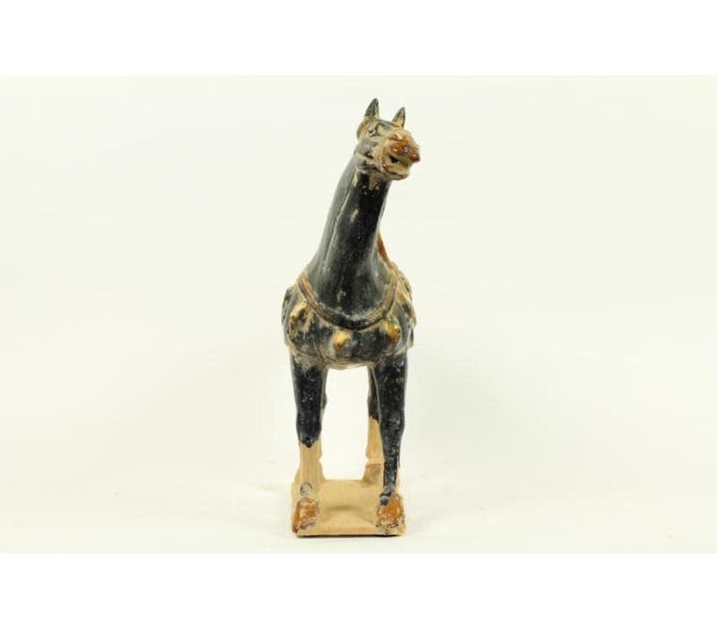 Aardewerk Chinees Paard Blauw Rechts