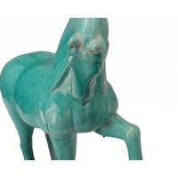 Chinese Paard Porselein Blauw