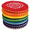 Fine Asianliving Klankschaalkussen chakra multi-colour set - 14.5cm