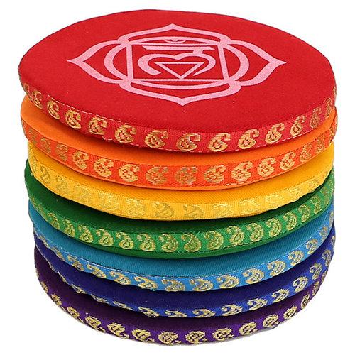 Singing bowl cushion chakra multi-color set - 14.5 cm