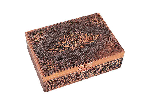 Fine Asianliving Jewelry box Storage box Lotus copper