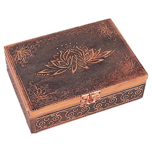 Sieradendoos Opbergdoos Lotus koper
