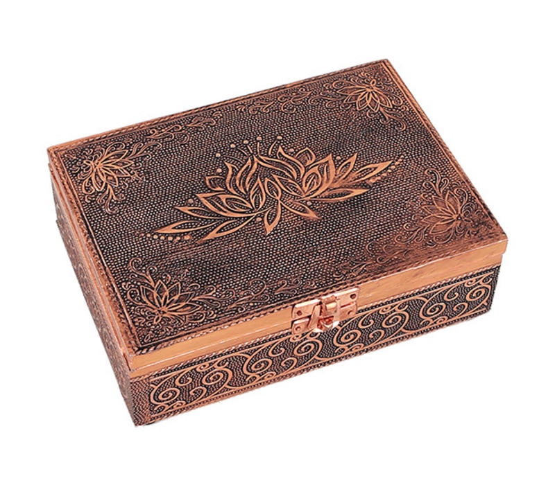 Jewelry box Storage box Lotus copper