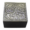 Fine Asianliving Jewelry box lotus silver