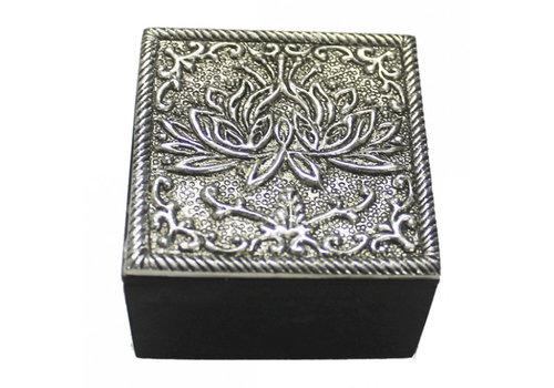 Fine Asianliving Sieradendoosje lotus zilver