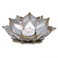 Candle holder open lotusflower