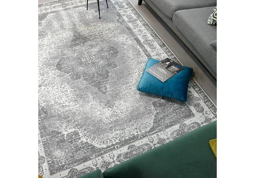 Fine Asianliving Vloerkleed Lowla Ash Grey 2 160x240cm
