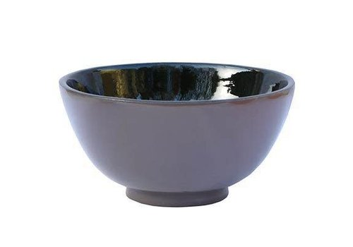 Fine Asianliving Vietnamese taupe and black lacquer bowl large
