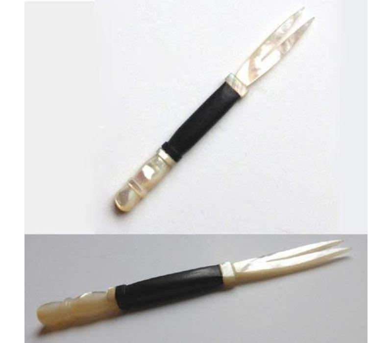 Vietnamese Cocktail stick mother of pearl and ebonywood