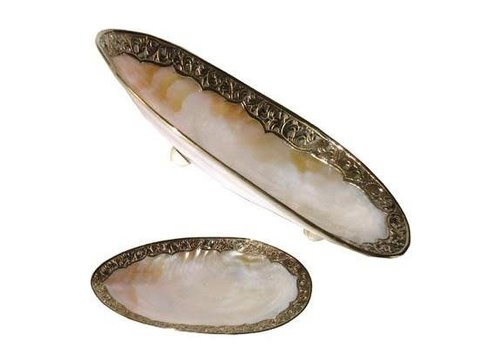 Fine Asianliving Vietnamese Mussel Shell Mother of Pearl Nacre Plate