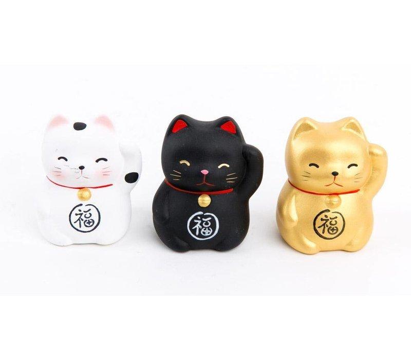 Lucky Cat Maneki Neko Mini Wit