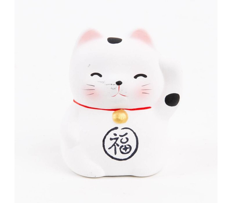 Lucky Cat Maneki Neko Mini White