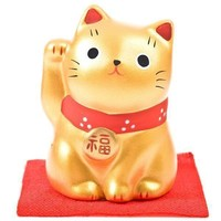 Lucky Cat Maneki Neko Gold