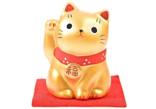 Fine Asianliving Lucky Cat Maneki Neko Gold