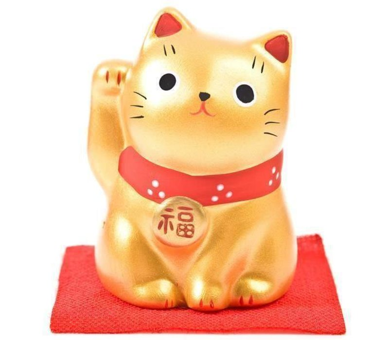 Lucky Cat Maneki Neko Klein - Paars